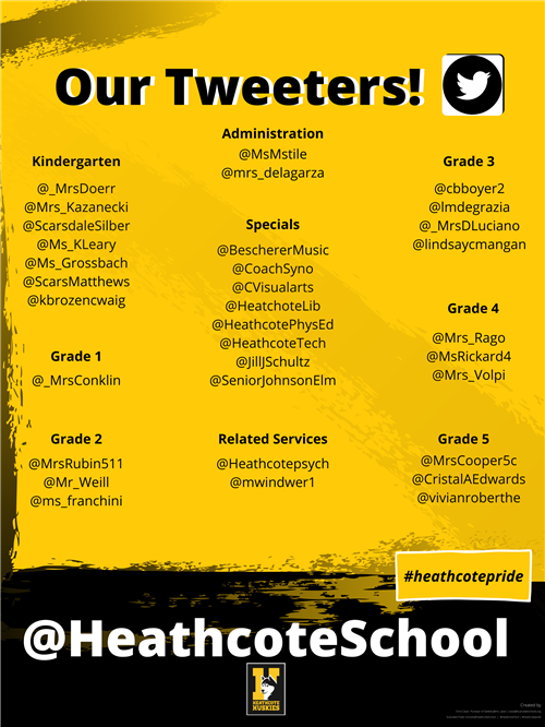 Tweeters @HeathcoteSchool