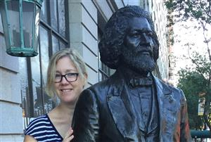 Ms. Collins and Frederick Douglass