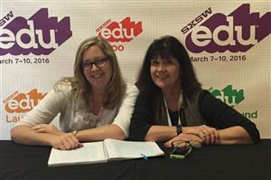 Ms. Collins and Mrs. Serafin at South by Southwest Education