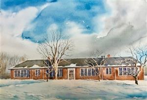 watercolor painting of Edgewood