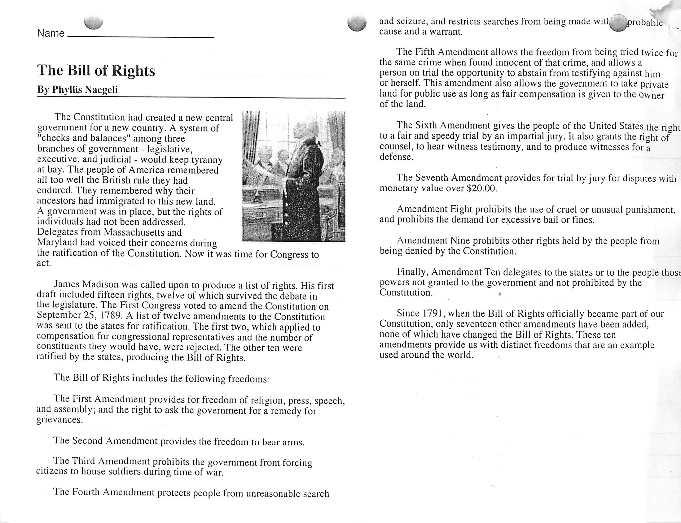 australia bill of rights essay