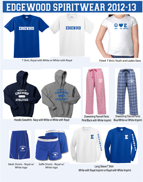 Edgewood Spirit Wear 2012-13